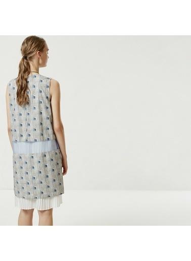 Yargıcı Kadın Plise Detaylı Elbise 0YKEL7158X Gri